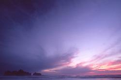 Rialto Beach Sunset, Olympic National Park, Washington, US