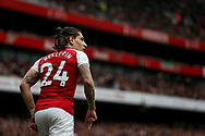 Hector Bellerin Of Arsenal looks on. <br /> Premier league match, Arsenal v Brighton & Hove Albion at the Emirates Stadium in London on Sunday 1st October 2017. pic by Kieran Clarke, Andrew Orchard sports photography.