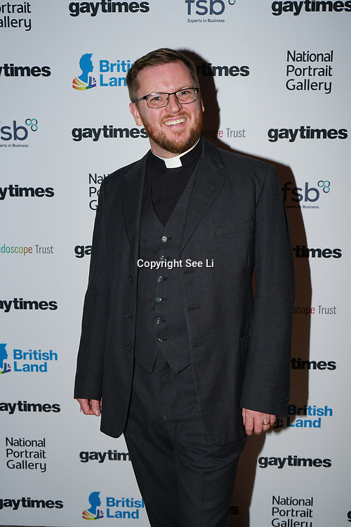 Steven Saxby attend the Gay Times Honours on 18th November 2017 at the National Portrait Gallery in London, UK.
