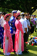 Memorial Day, Punchbowl, National Cemetary of the Pacific, Honolulu, Oahu, Hawaii