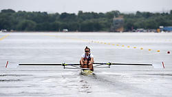 Great Britain's Harriet Taylor in the Women's Pairs Heat One race during day one of the 2018 European Championships at the Strathclyde Country Park, North Lanarkshire.