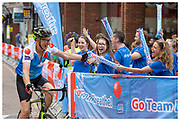 British Lung Foundation and Team Breathe during the annual RideLondon cycle event. August, 2019