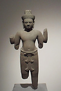 Bodhisattva Lokesvara transformed into Siva. 10th century, 11th century style of Khleang (late 10th-early 11th century) Sandstone sculpture from Phnom Trop, Cambodia