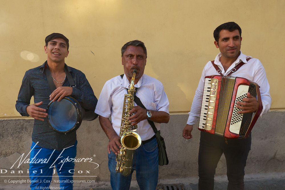 Local musicians on the streets of Sorrento, Italy