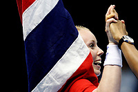 20111218: SAO PAULO, BRAZIL - Norway player celebrate victory  at France vs Norway final match of the XX World Handball<br /> PHOTO: CITYFILES