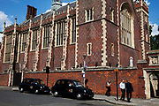 Lincoln's Inn Hall at Lincoln's Inn Fields. This area of central London is where many of the law courts are based in addition to offices of those involved in the law business.