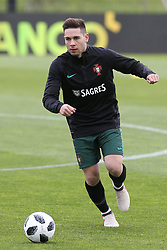 March 20, 2018 - Lisbon, Lisbon, Portugal - Portugal defender Raphael Guerreiro during training session at Cidade do Futebol training camp in Oeiras, outskirts of Lisbon, on March 20, 2018 ahead of the friendly football match in Zurich against Egypt on March 23. (Credit Image: © Dpi/NurPhoto via ZUMA Press)
