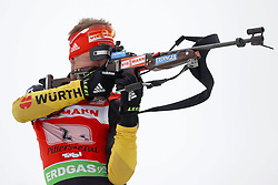 11.12.2011, Biathlonzentrum, Hochfilzen, AUT, E.ON IBU Weltcup, 2. Biathlon, Hochfilzen, Staffel Herren, im Bild Schempp Simon (Team Germany) // during Team Relay E.ON IBU World Cup 2th Biathlon, Hochfilzen, Austria on 2011/12/11. EXPA Pictures © 2011. EXPA Pictures © 2011, PhotoCredit: EXPA/ nph/ Straubmeier..***** ATTENTION - OUT OF GER, CRO *****