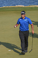 Hideki Matsuyama (JPN) after sinking his putt on 11 during day 1 of the WGC Dell Match Play, at the Austin Country Club, Austin, Texas, USA. 3/27/2019.<br /> Picture: Golffile | Ken Murray<br /> <br /> <br /> All photo usage must carry mandatory copyright credit (© Golffile | Ken Murray)