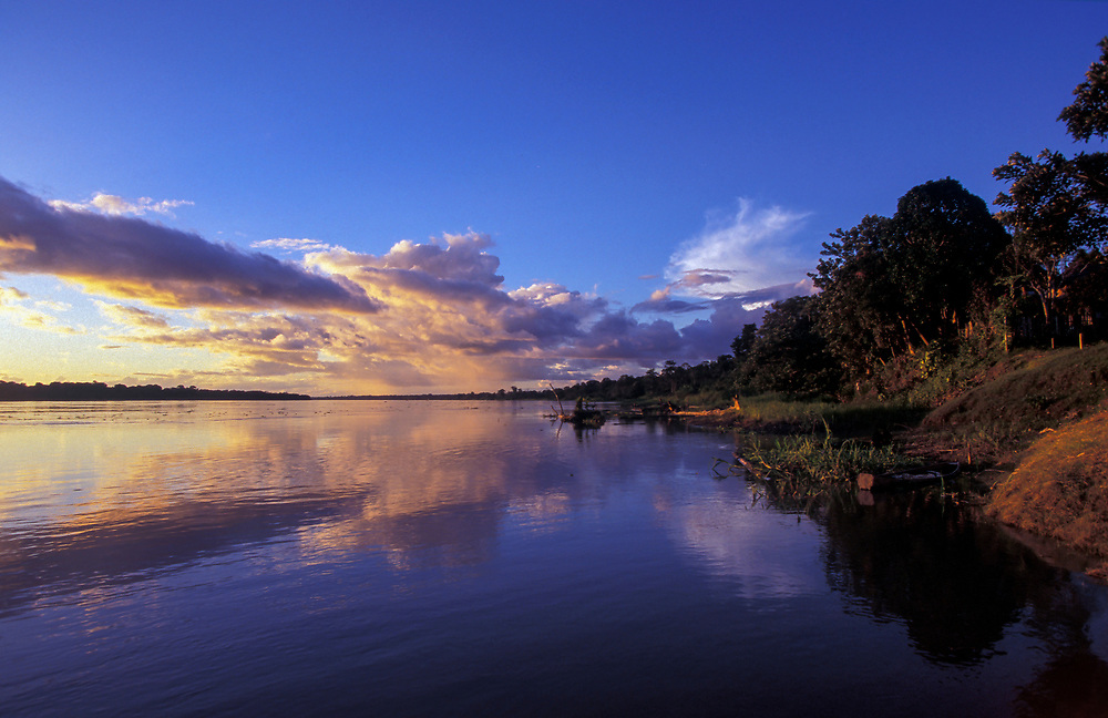 The Amazon River is already mighty before it reaches Brazil, Leticia