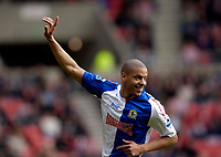 Photo: Jed Wee.<br />Sunderland v Blackburn Rovers. The Barclays Premiership. 25/03/2006.<br /><br />Blackburn's Steven Reid celebrates.