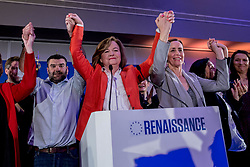 May 26, 2019 - Paris, Ile-de-France (region, France - Nathalie Loiseau. The electoral evening of the European elections for the Republic En Marche which according to the estimations arrive in second position behind the RN. (Credit Image: © Sadak Souici/Le Pictorium Agency via ZUMA Press)