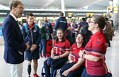 Team UK departs for the 2017 Invictus Games - 21 Sept 2017