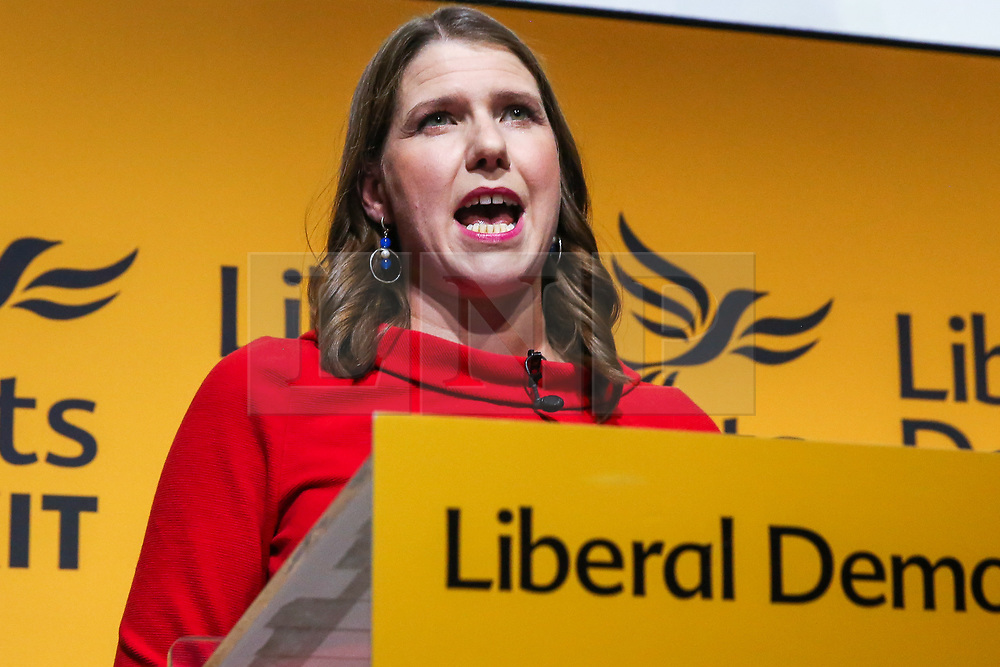 © Licensed to London News Pictures. 22/07/2019. London, UK. JO SWINSON speaks after been elected as the leader of the Liberal Democrats. JO SWINSON, MP for East Dunbartonshire,won the leadership election receiving47,997 votes. Photo credit: Dinendra Haria/LNP