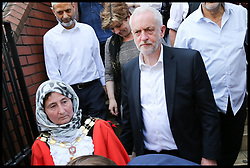 June 19, 2017 - London, London, United Kingdom - Image ©Licensed to i-Images Picture Agency. 19/06/2017. London, United Kingdom. Jeremy Corbyn Finsbury Park Mosque attack. .Jeremy Corbyn and Emily Thornberry.Shadow Foreign Secretary leave Finsbury Park Mosque, which he regularly attends. According to the Metropolitan Police Service, police responded to reports of a major incident where a vehicle collided with pedestrians in Seven Sisters Road, in north London. One person has been arrested, police added.The Muslim Council of Britain (MCB) commented on the incident saying that a van has run over worshippers outside the Muslim Welfare House (MWH), near the Finsbury Park..Picture by Dinendra Haria / i-Images (Credit Image: © Dinendra Haria/i-Images via ZUMA Press)