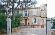 Chateau Mire l'Etang. La Clape. Languedoc. The main building. France. Europe.