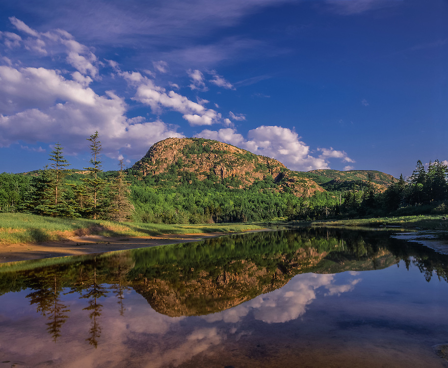The Beehive and reflection in pond, Acadia National Park, ME