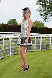 HOLLY COLEMAN at the Investec Ladies Day at the Investec Derby Festival 2015 at Epsom Racecourse, Epsom, Surrey on 5th June 2015.