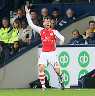 Arsenal's Nacho Monreal grimmaces as he injures his knee<br /> <br /> Barclays Premier League- West Bromwich Albion vs Arsenal - The Hawthorns - England - 29th November 2014 - Picture David Klein/Sportimage