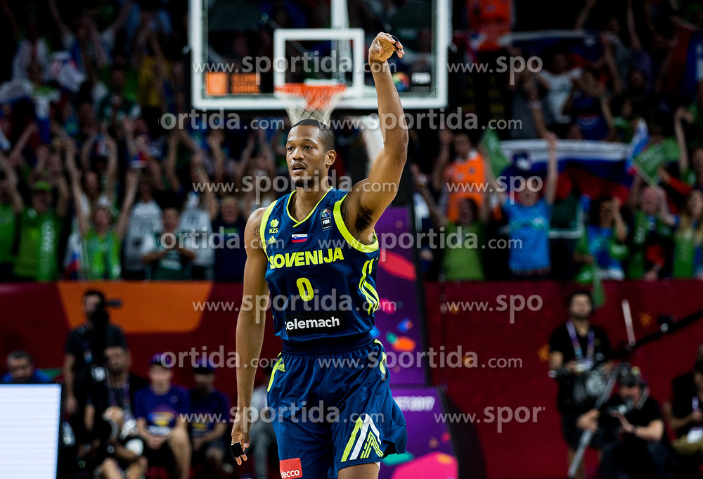 Anthony Randolph of Slovenia during basketball match between National Teams of Slovenia and Spain at Day 15 in Semifinal of the FIBA EuroBasket 2017 at Sinan Erdem Dome in Istanbul, Turkey on September 14, 2017. Photo by Vid Ponikvar / Sportida