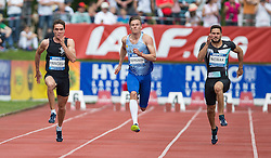 28.05.2016, Moeslestadion, Goetzis, AUT, 42. Hypo Meeting Goetzis 2016, Zehnkampf der Herren, 400 Meter, im Bild v. l. Jonas Fringeli (SUI), Taavi Ternjavski (EST) und Tim Nowak (GER) // Jonas Fringeli of Switzerland ( L ) Taavi Ternjavski of Estland ( C ) Tim Nowak of Germany ( R ) during the 400 metres event of the Decathlon competition at the 42th Hypo Meeting at the Moeslestadion in Goetzis, Austria on 2016/05/28. EXPA Pictures © 2016, PhotoCredit: EXPA/ Peter Rinderer