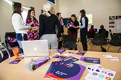 Pictured: <br /> Today Mental Health Minister Maureen Watt vsiisted the Royal Hospital in Edinburgh to help aunch the online resource aimed at young people in this Eating Disorders Awareness Week, While thee she met two two Beat ambassadors, Constance Barter and Ballari Conner<br /> <br /> Ger Harley | EEm 28 Fbruary 2018