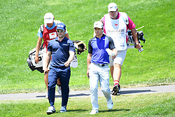 June 25, 2017 - Cromwell, Connecticut, U.S - PGA Tour players David Lingmerth(left) and Paul Casey(right) walk off the first tee during the final round of the Travelers Championship at TPC River Highlands in Cromwell, Connecticut. (Credit Image: © Brian Ciancio via ZUMA Wire)