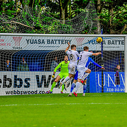Connor Riley-Lowe heads the ball towards goal 24/10/2020