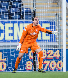 Falkirk's keeper Jamie MacDonald.<br /> Falkirk 6 v 0 Cowdenbeath, Scottish Championship game played at The Falkirk Stadium, 25/10/2014.