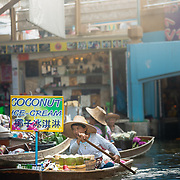Market vendor in boat at Damnoen Saduak floating market
