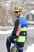 Portrati of yclist, Josh Saxe, Vermont