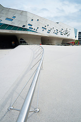 Exterior of Phaeno Science Center in Wolfsburg Germany ; Architect Zaha Hadid