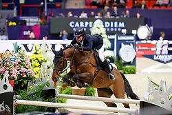 Lindelow Douglas, SWE, Zacramento<br /> Gothenburg Horse Show FEI World Cups 2017<br /> © Hippo Foto - Stefan Lafrentz<br /> 24/02/17