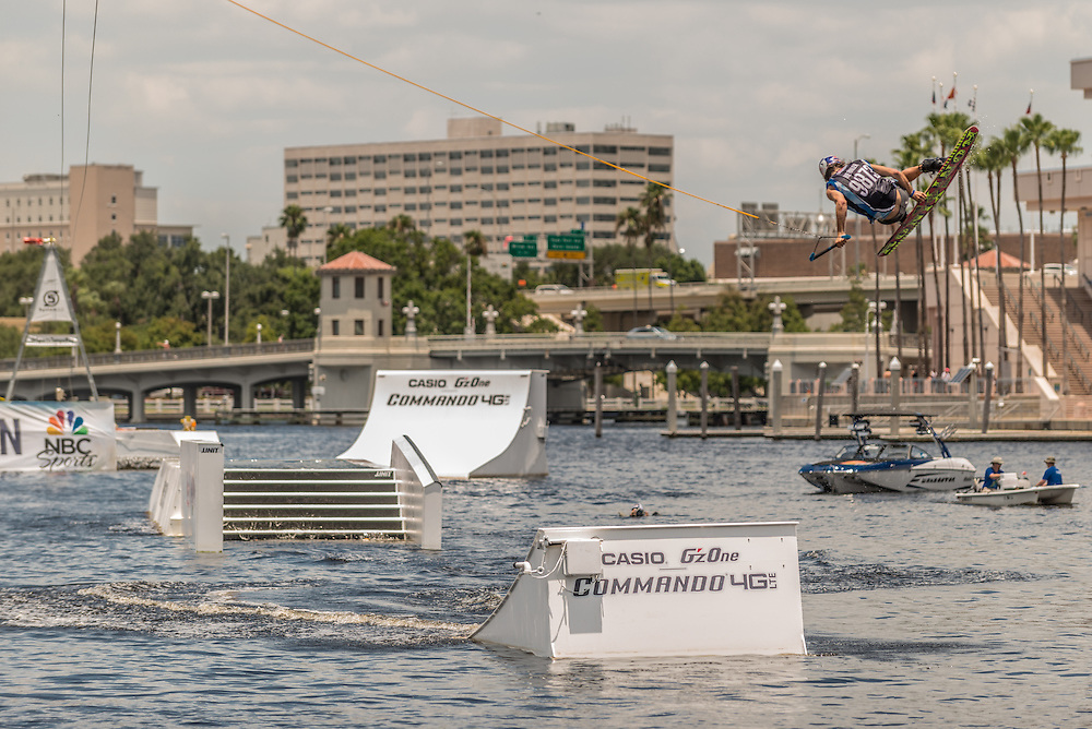 Dominik Hernler Competes in the park competition during the Red Bull Wake Open in Tampa, Florida, USA on 6 July 2013.