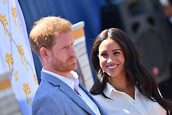 The Duke and Duchess of Sussex during a visit to Tembisa township near Johannesburg, where they met with local youth entrepreneurs and viewed skills initiatives addressing the rising unemployment challenge faced by youth in South Africa, on the last day day of their tour in Africa.