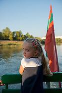 A girl aboard a Dniester River cruise boat in Tiraspol, Transnistria.<br /><br />(September 10, 2016)