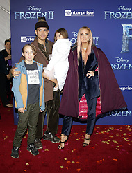 Bronx Wentz, Evan Ross, Ashlee Simpson and Jagger Snow Ross at the World premiere of Disney's 'Frozen 2' held at the Dolby Theatre in Hollywood, USA on November 7, 2019.