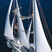 The Superyacht Andromeda, sailing off the coast of Miami Florida has an enormous amount of locations aloft for guests to enjoy the views.