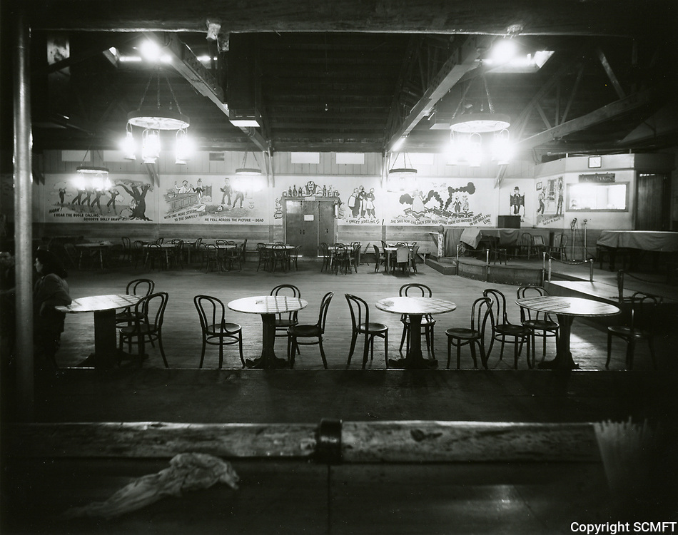 1943 Looking at south wall (from eating counter) at the Hollywood Canteen