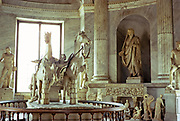 Chariot sculpture Hall of the Chariot, interior Vatican, Rome, Italy 1974