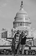 A Trump supportering couple in front of the Capitol Building the day before the  Inauguration of Donald Trump as 45th President in Washgington D.C.