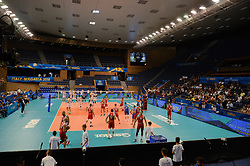 September 12, 2018 - Varna, Bulgaria - The sports hall Congresna, Varna, Bulgaria. Iran vs Puerto Rico, pool D, during 2018 FIVB Volleyball Men's World Championship Italy-Bulgaria 2018, Varna, Bulgaria on September 12, 2018  (Credit Image: © Hristo Rusev/NurPhoto/ZUMA Press)