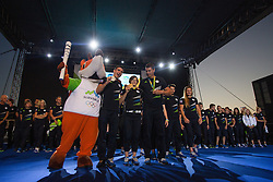 Peter Kauzer, Tina Trstenjak, and Vasilij Zbogar during reception of Slovenian Olympic Team at BTC City when they came back from Rio de Janeiro after Summer Olympic games 2016, on August 26, 2016 in Ljubljana, Slovenia. Photo by Matic Klansek Velej / Sportida