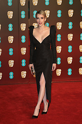 attend the EE British Academy Film Awards at the Royal Albert Hall in London, UK. 18 Feb 2018 Pictured: Emma Roberts. Photo credit: Fred Duval / MEGA TheMegaAgency.com +1 888 505 6342