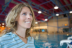 Woman at the aquatic centre swimming pool in the Canada Games Centre in Whitehorse