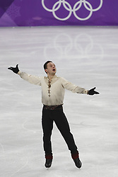 February 17, 2018 - Pyeongchang, KOREA - Alexei Bychenko of Israel competing in the men's figure skating free skate program during the Pyeongchang 2018 Olympic Winter Games at Gangneung Ice Arena. (Credit Image: © David McIntyre via ZUMA Wire)