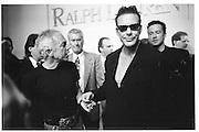 Ralph Lauren and Mickey Rowke, Ralph Lauren fashion show, New York 1994 approx© Copyright Photograph by Dafydd Jones 66 Stockwell Park Rd. London SW9 0DA Tel 020 7733 0108 www.dafjones.com