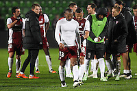 Deception Metz - Florent MALOUDA - 17.01.2015 - Metz / Montpellier - 21eme journee de Ligue 1<br />