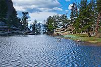 Gem Lake along the Gem Lake Trail on Lumpy Ridge, Rocky Mountain National Park, Colorado.
