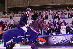 Farewell of Rascin with Piet Raymakers Jr, Piet Raymakers and Gerard Van Schijndel<br /> KWPN Hengstenkeuring - 's Hertogenbosch 2013<br /> © Dirk Caremans